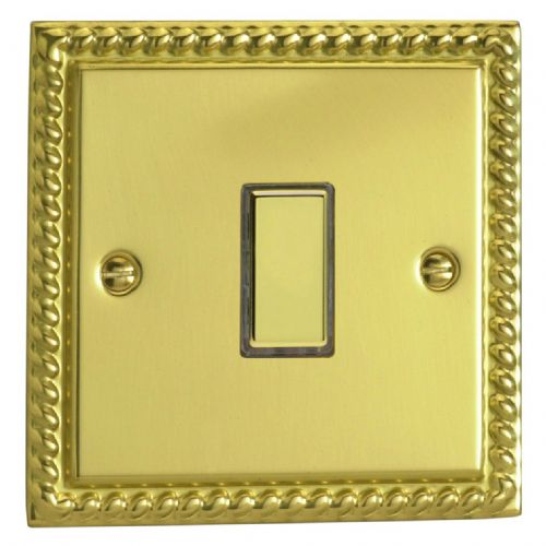 Varilight JGES001 Georgian Polished Brass 1 Gang Touch Dimming Slave (use with V-Pro Master)